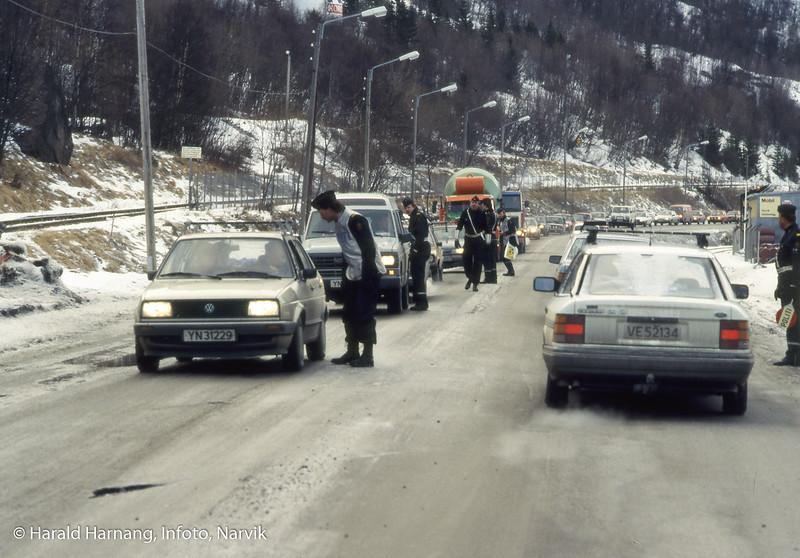Promillekontroll på Fagernesveien.