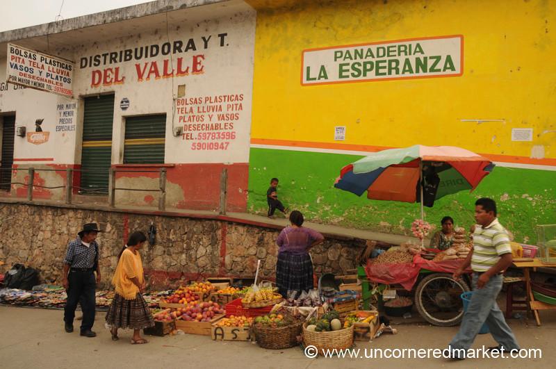Street Market in Coban, Guatemala
