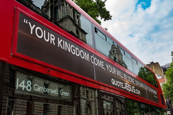 Jesus quote bus campaign