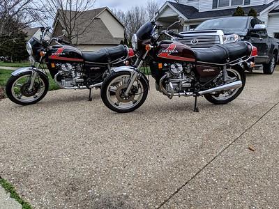 1982 Honda GL500 & 1981 CX500's