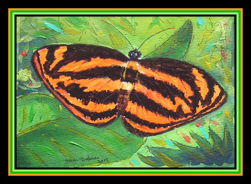 Common Lascar, Pantoporia hordonia, India - Malaya - 4.5x6, watercolor, acrylic & ink, jan 9, 2019.PICT0014