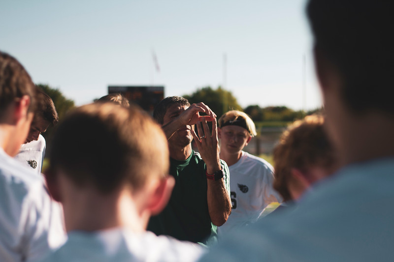Holy Family Varsity Soccer vs. Delano, 9/19/19: Coach Jorge Oconitrillo