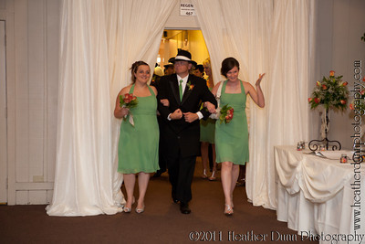Bridal Party Introductions at the Reception
