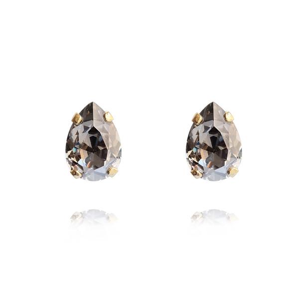 Petite Drop Earrings / Silver Shade