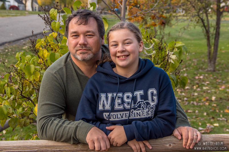 Father and Third Daughter   Photography by Wayne Heim