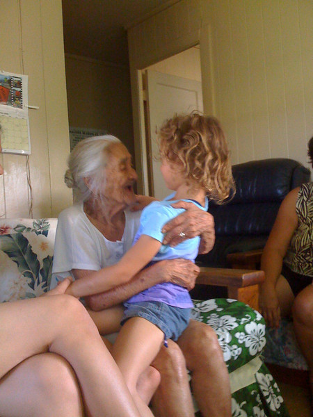 Visiting great grandma. She's 103 this year!