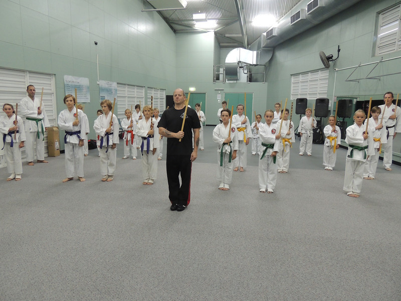 Grandmaster Angelo 8th Dan Founder Filipino Kyusho with Combat Karate Junior Training Class self Defence for kids, Noosa