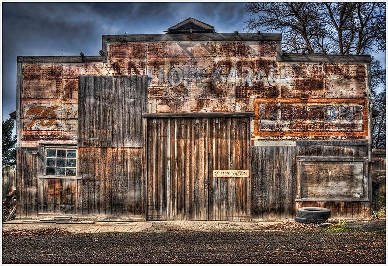 Antelope Garage, Artistic, HDR, Oregon.jpg