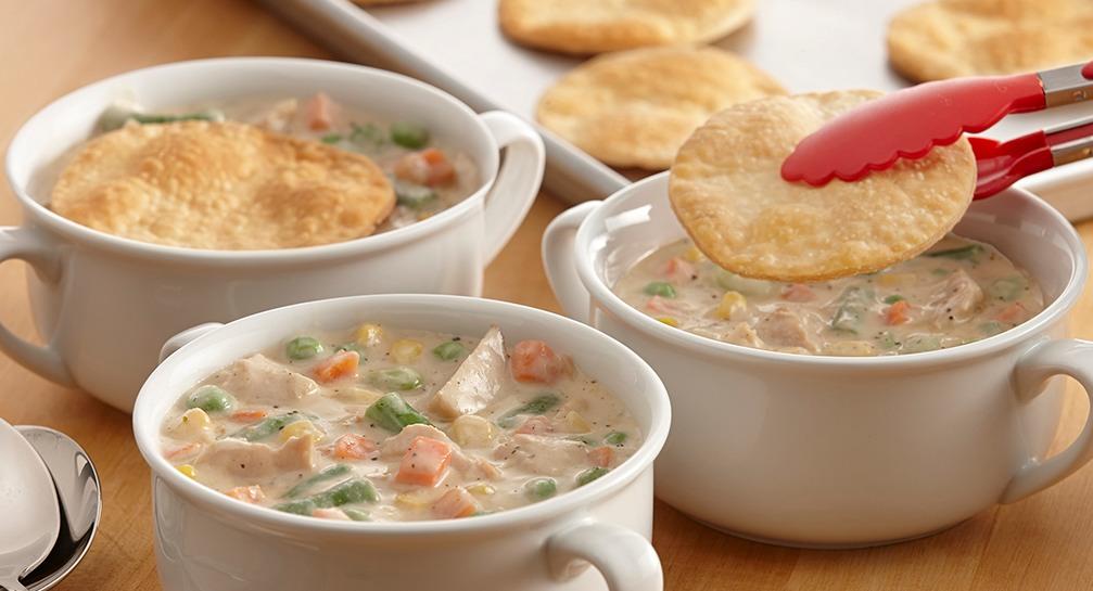 Description of . Sage and Turkey Pot Pie Soup McCormick