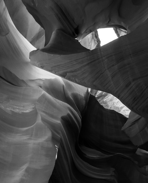 This image was mostly all dull magenta colors so I switched it to gray. Lower Canyon.