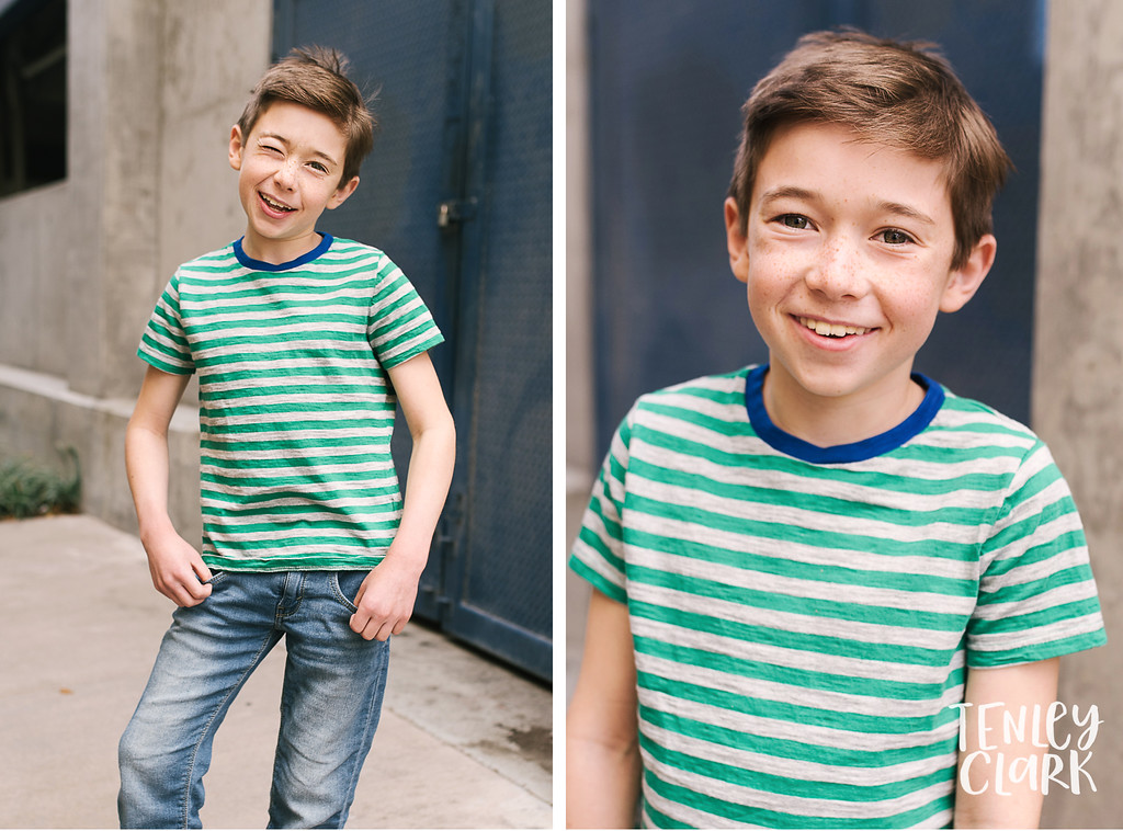 Anthony. Bay Area kids sibling model headshot portfolio session for JE kids in Palo Alto by Tenley Clark Photography