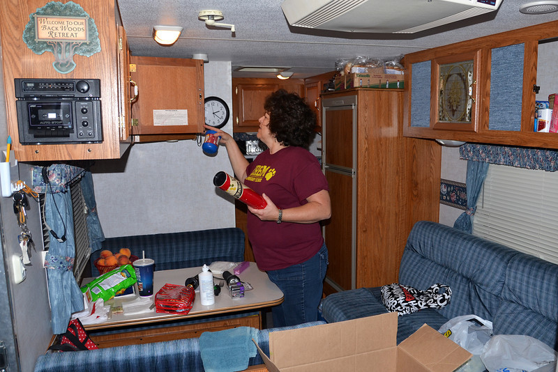 2012-8-31 ––– I took the trailer up to our campsite in the middle of the day then brought Lisa and supplies up later that evening. She had to put everything away when we first got to camp.