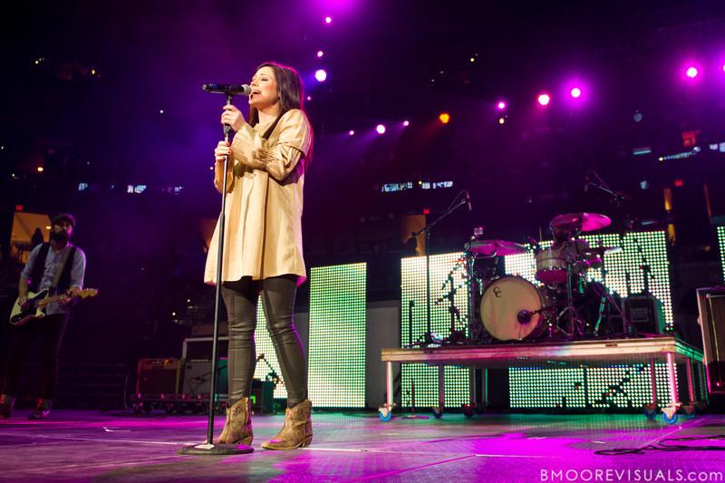 Kari Jobe performs on Januar 14, 2012 during Winter Jam at Tampa Bay Times Forum in Tampa, Florida