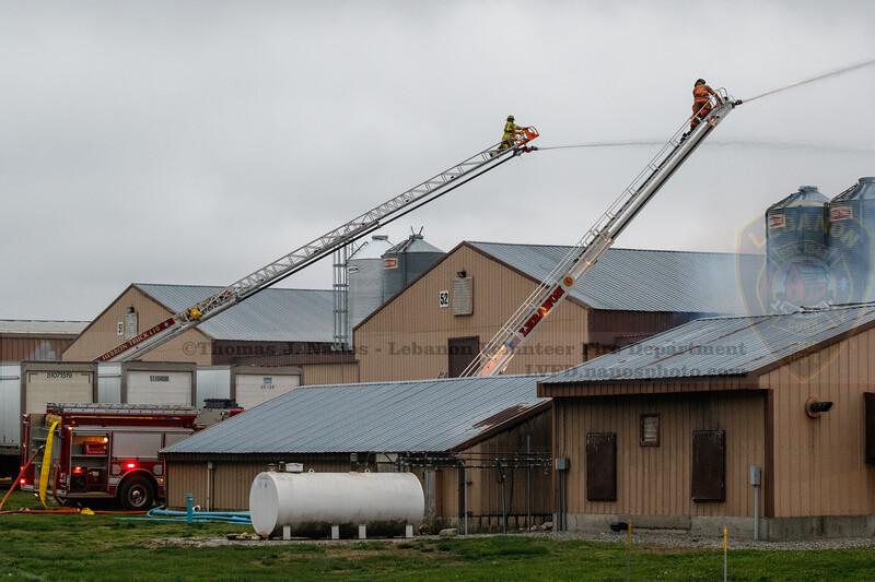 Fire at Kofkoff Egg Farm, Lebanon, Connecticut