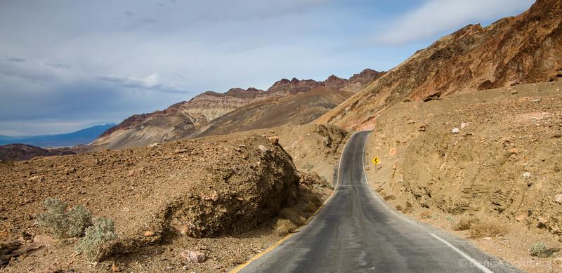 along Artist's Drive, Death Valley National Park