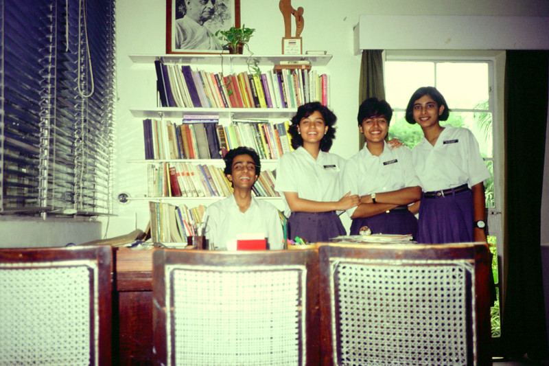 (from left) Rajiv, Ila Kapoor, Leena Sahijwani, Maya Bhattacharya