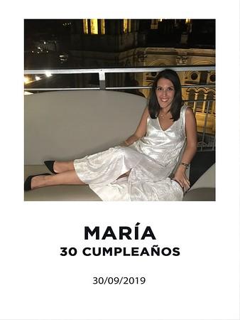 30 cumpleaños de María ¿Primer apellido de María? (Primera en mayúscula y sin tilde)