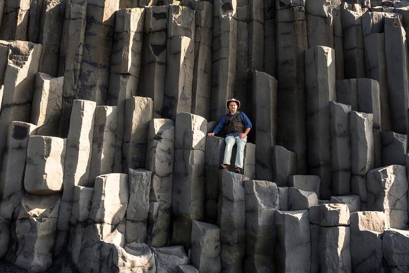 Basalt columns at Reynisfjara.