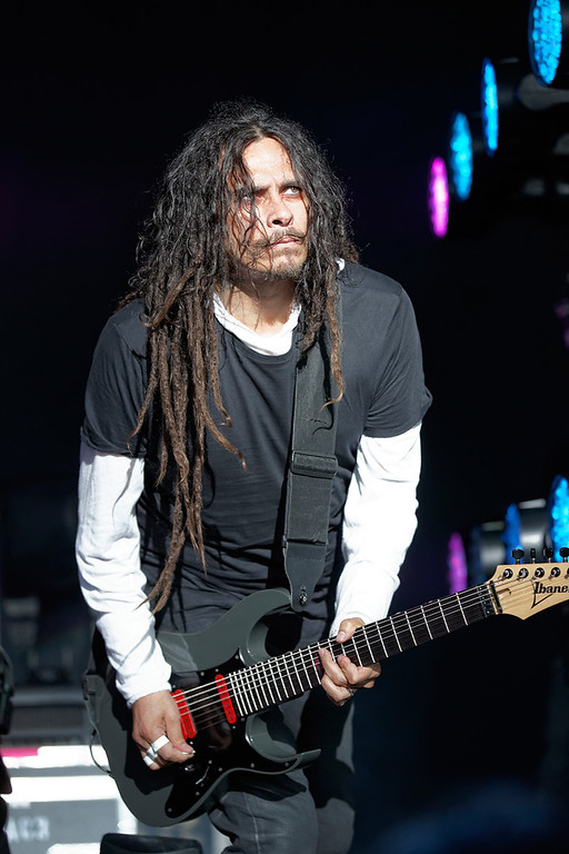 . Korn\'s Munky performs at Mayhem Festival on Thursday, July 18, 2014, at DTE Energy Theatre, Independence Township. Photo by Ken Settle