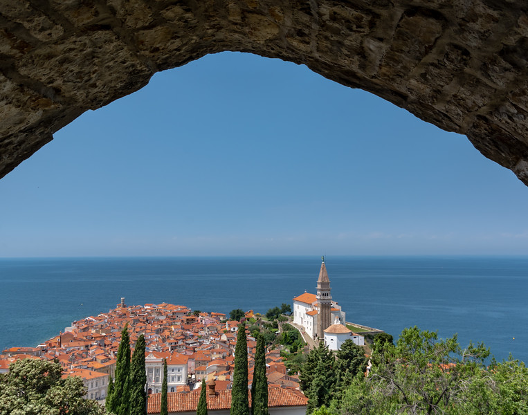 View of Piran from old city walls