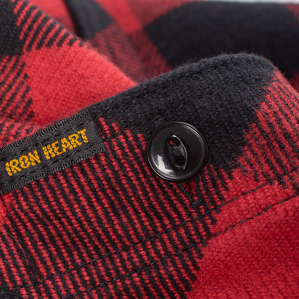 Ultra Heavy Flannel Buffalo Check Work Shirt - Red-Black--7.jpg