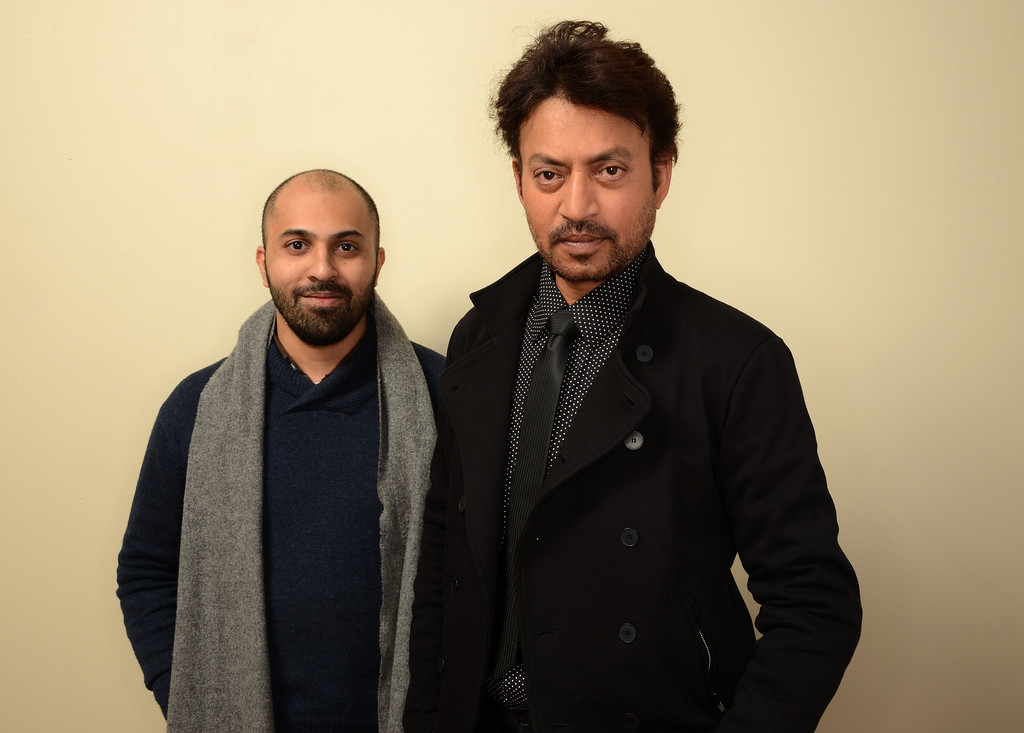 . Filmmaker Ritesh Batra (L) and actor Irrfan Khan pose for a portrait during the 2014 Sundance Film Festival at the Getty Images Portrait Studio at the Village At The Lift on January 20, 2014 in Park City, Utah.  (Photo by Larry Busacca/Getty Images)