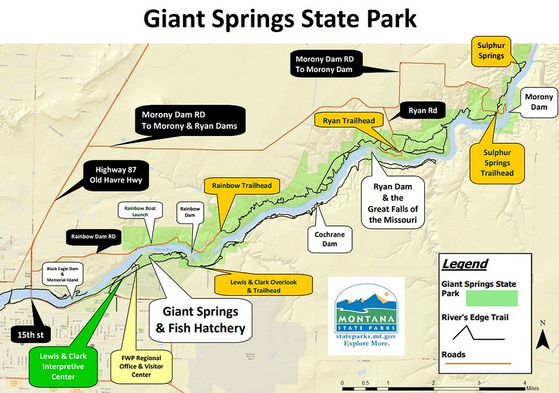 Giant Springs State Park (Points of Interest Map)