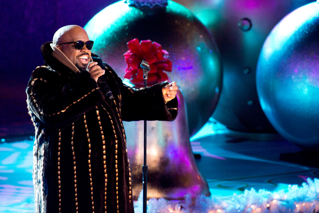 . CeeLo Green performs at the 80th annual Rockefeller Center Christmas tree lighting ceremony on Wednesday, Nov. 28, 2012 in New York. (Photo by Charles Sykes/Invision/AP)
