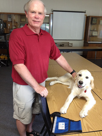 2012-07-11 K9 Miriam and Fred Vanstrom in office