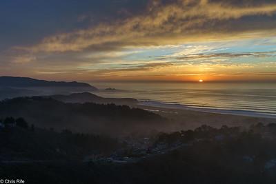 Milagra Ridge Sunset, 2020