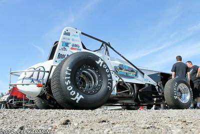 Indiana Sprint Week Gas City 7/11/14 Jeff Karabin