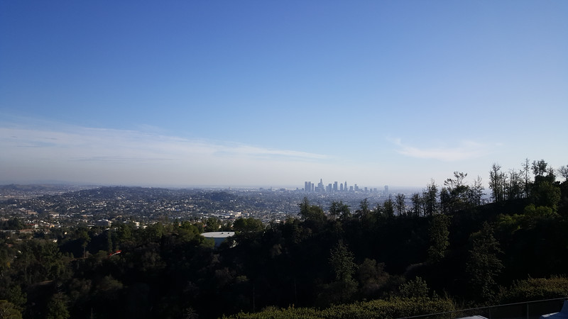 Looking down on downtown LA from the Griffith Observatory