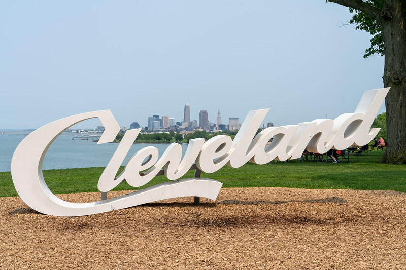 Cleveland sign at Edgewater Park