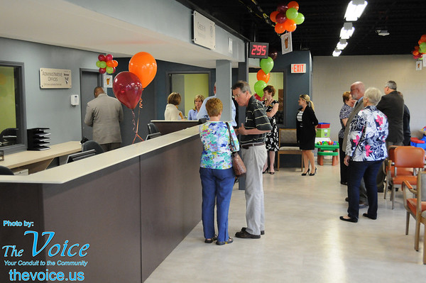Aurora Area Interfaith Food Pantry grand opening and ribbon cutting at Jericho Road facility 5-28-14
