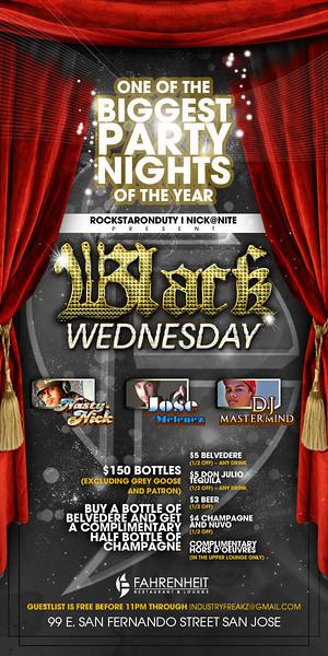 RockStarOnDuty & Nick@Nite presents BLACK WEDNESDAY @ FAHRENHEIT Ultra Lounge 11.24.10