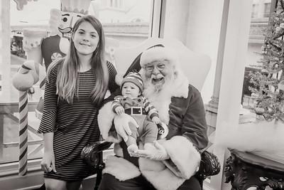 Mikaela and Gabe meet Santa at Sweet Pete's