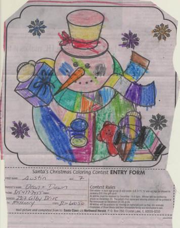 Santa's Coloring Contest