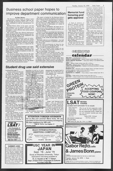 Daily Trojan, Vol. 72, No. 61, January 10, 1978