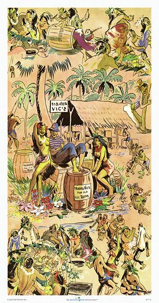 171: Hawaiian-Style Restaurant Menu Cover, ca 1952.