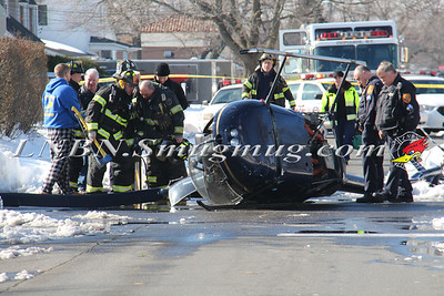 Copiague F.D. Helicopter Crash Buena Vista Blvd & Alhambra Ave East 1-27-16