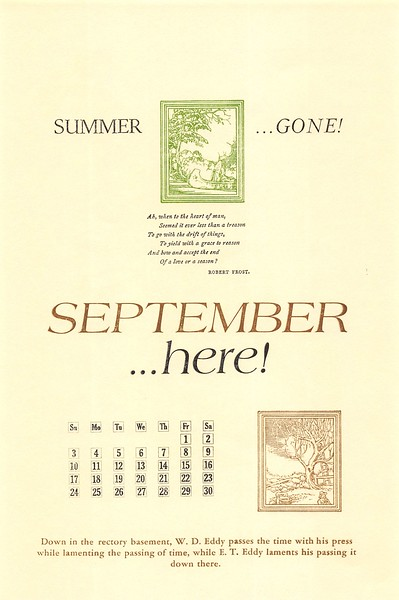 September, 1989, Rectory Basement Press