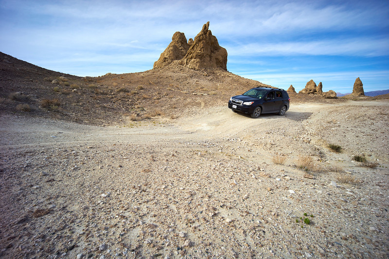 Offroading with the Forester at the Trona Pinnacles