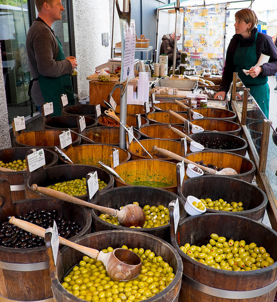 A good supply of olives.