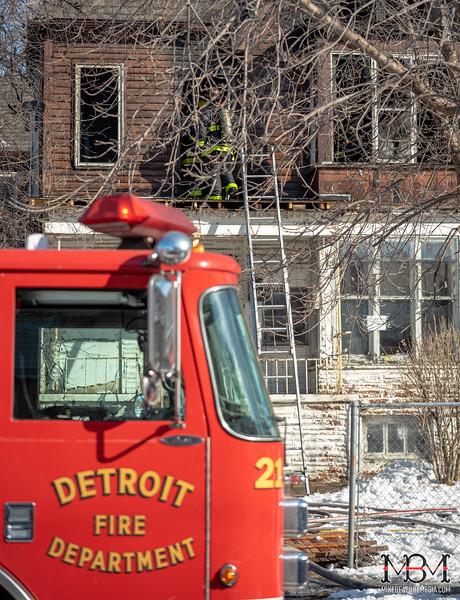 Detroit MI, House Fire 1-21-2020