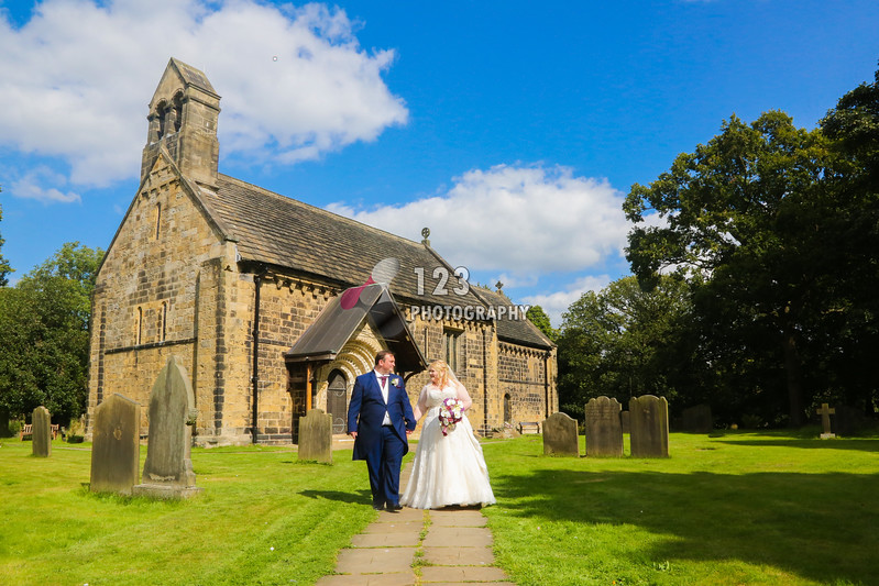 Kirsty and Alex's wedding photography Adel Church and Old Barn Esholt