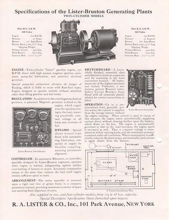 Lister Bruston Info Sheets
