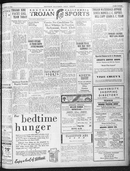 Daily Trojan, Vol. 23, No. 121, April 08, 1932