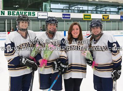2/15/2012 - Girls Varsity Hockey - Newton North vs Needham
