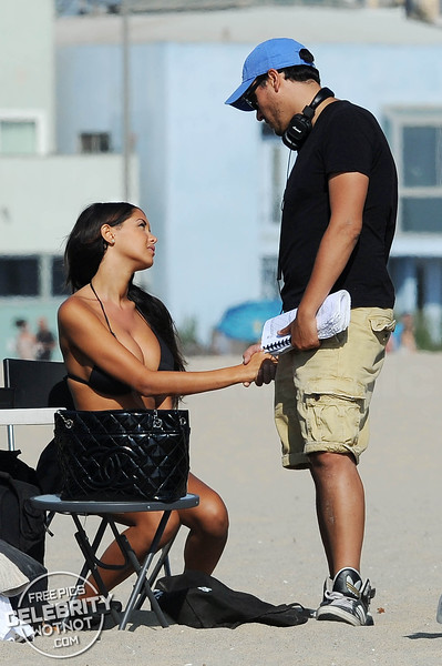 Nabilla Benattia Shows Off Bikini Filming Show On Venice Beach, California