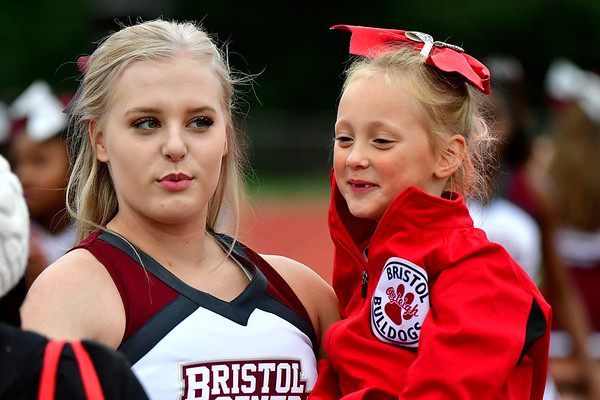 9/28/2018 Mike Orazzi | Staff Bristol Central High School Cheerleaders during Friday night's football game with Middletown in Bristol.